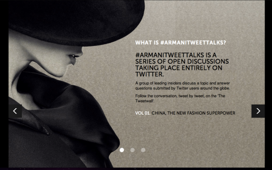 Armani Tweet Talks